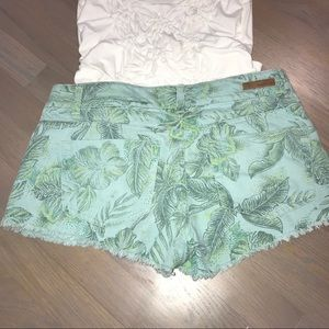 O'Neill Shorts - ❤️O'Neill palm printed shorts blue/green frayed 7